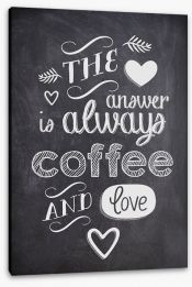 Coffee and love Stretched Canvas 93860932