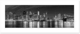 Manhattan panoramic at night