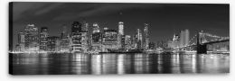 Manhattan panoramic at night Stretched Canvas 94054059