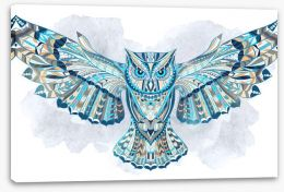 Atzec owl Stretched Canvas 94296723