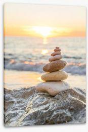 Sunrise zen Stretched Canvas 94898069