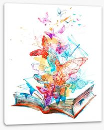 The butterfly book Stretched Canvas 94954029