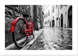 Red bike Art Print 95275197