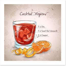 Negroni cocktail Art Print 95980069