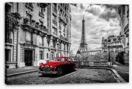 The red car Stretched Canvas 96836225