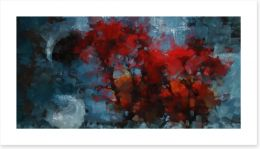 Autumn night Art Print 97010347