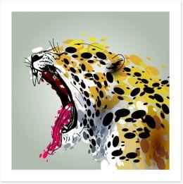 Jaguar roar Art Print 97065653