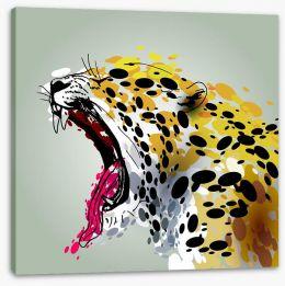 Jaguar roar Stretched Canvas 97065653