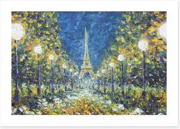 White lights in paris Art Print 97306404