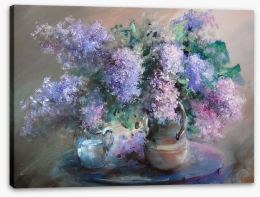 Lilac in the jugs Stretched Canvas 99821567