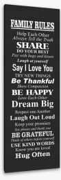Family rules Stretched Canvas SD00002