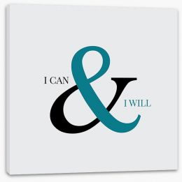 Can and will Stretched Canvas AA00173