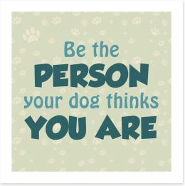 Be the person Art Print AA0179