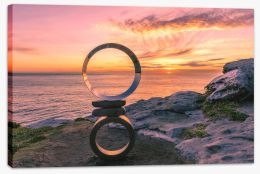Sunrise and circles Stretched Canvas CS0014