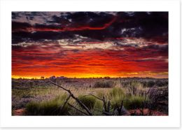Red centre sunset Art Print CS0016