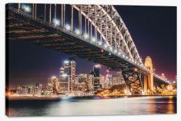 Sydney by night Stretched Canvas CS0018