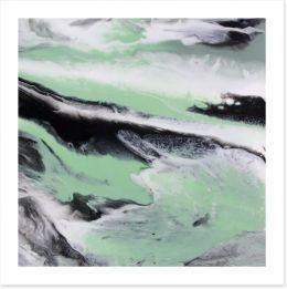 Mint tide Art Print ET0035