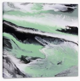 Mint tide Stretched Canvas ET0035