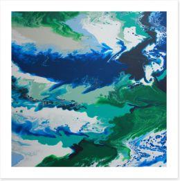 Tropical waters 1 Art Print ET0039