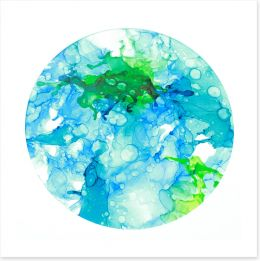 The reef circle Art Print ET0042