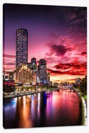 Princess Bridge sunset Stretched Canvas FB0007
