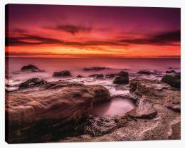 Burning skies at Black Rock Stretched Canvas FB0012