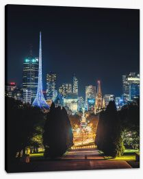 Melbourne lights Stretched Canvas FB0015