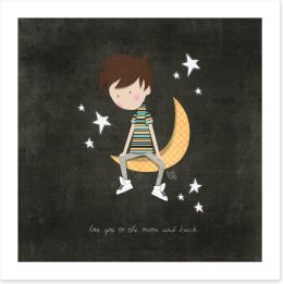 To the moon and back Art Print KB0008
