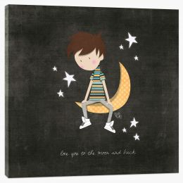 To the moon and back Stretched Canvas KB0008