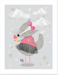 Pink ballerina fox