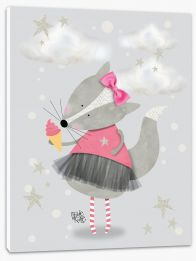 Pink ballerina fox Stretched Canvas KB0012