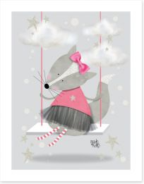 Pink fox swing