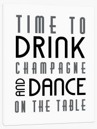 Time to drink champagne Stretched Canvas LOK00011