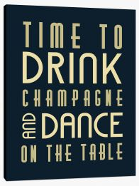 Time to drink champagne Stretched Canvas LOK00014
