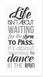 Dance in the rain Art Print LOK00028