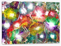 Dahlia's of rainbows and rain Stretched Canvas OC0019