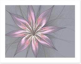 Silk flower in grey