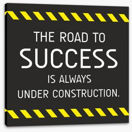 The road to success Stretched Canvas SD00004