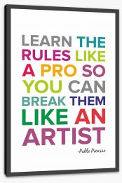 Learn the rules like a pro Stretched Canvas SD00022