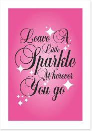 Leave a little sparkle Art Print SD00031