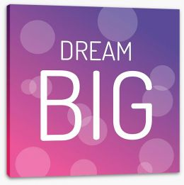 Dream big Stretched Canvas SD00035