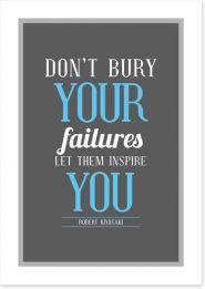 Don't bury your failures
