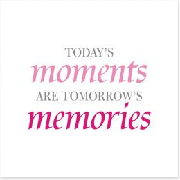 Today's moments Art Print SD00059