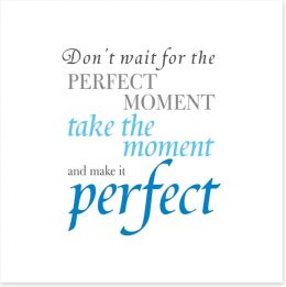 The perfect moment Art Print SD00061