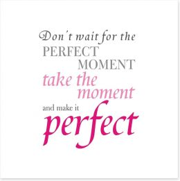 The perfect moment Art Print SD00063