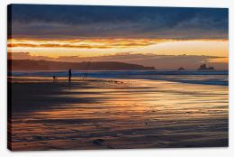 Golden fishing Stretched Canvas SL0005