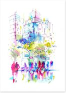 Spring in the city Art Print 100145069
