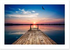 Twilight tranquility Art Print 103051284