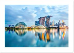 Singapore skyline reflections