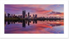 Pink Perth sunrise Art Print 103951785